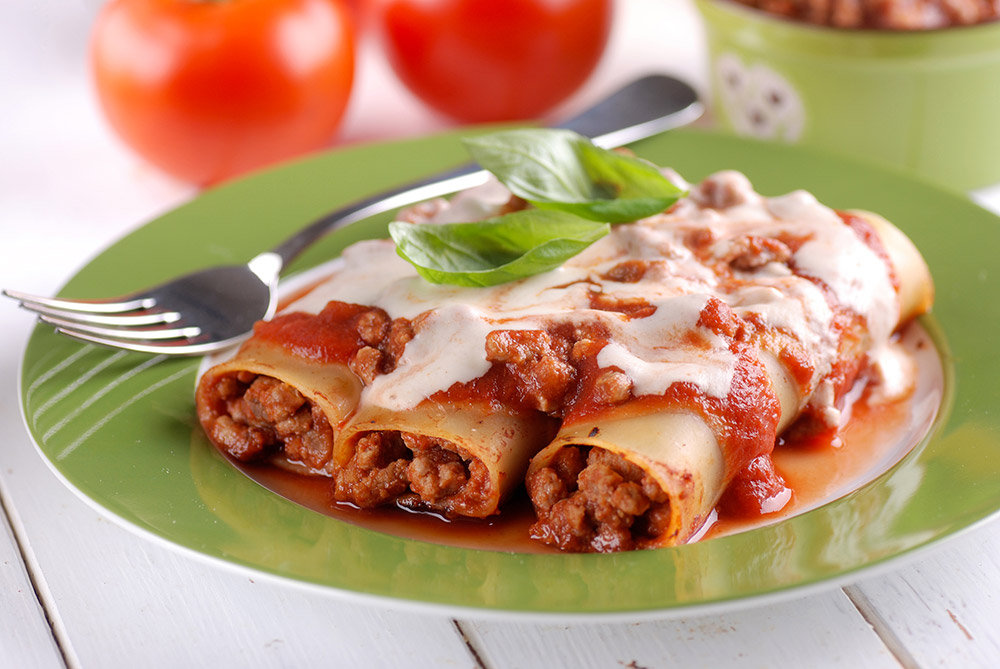 Cannelloni with Bolognese Sauce