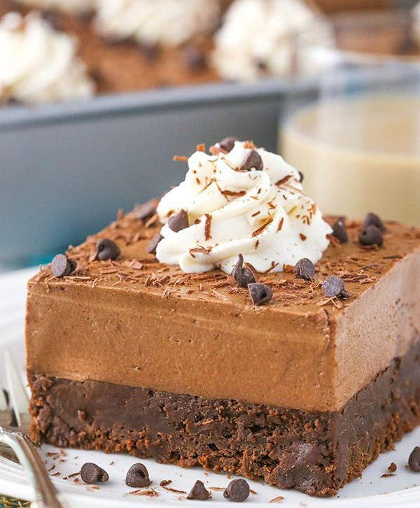 Creamy Baileys Chocolate Mousse Cake