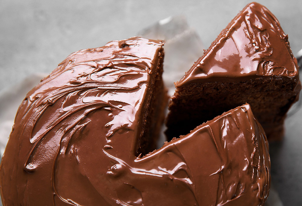Post-Depression Era Chocolate Cake