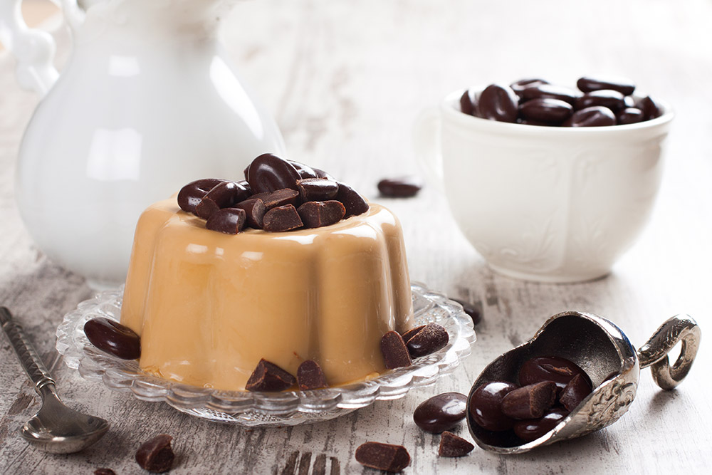Dark Chocolate Panna Cotta with Baileys