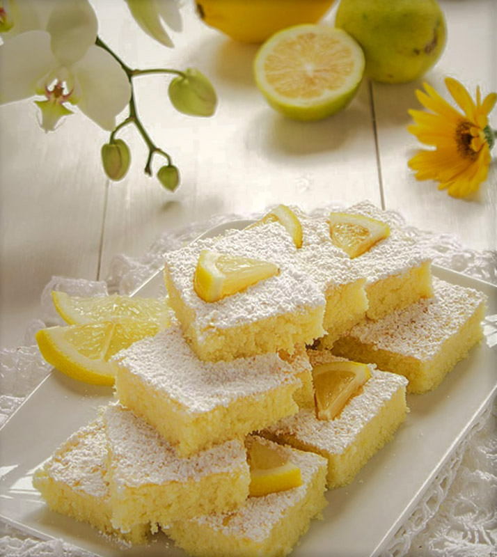 Creamy White Chocolate and Lemon Bars